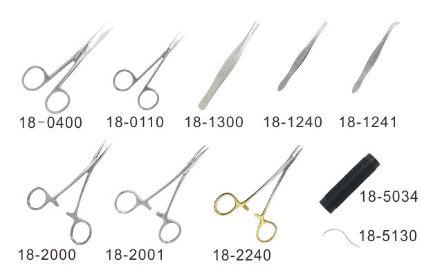 Basic surgical instrument set